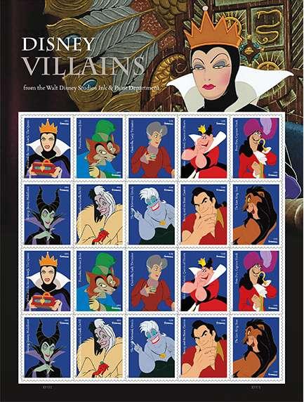 Villainous Postage Stamps