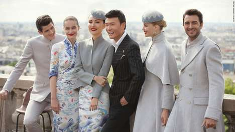 Couture-Inspired Airline Uniforms - Hainan Airlines Presented Its New Uniform at Paris Fashion Week