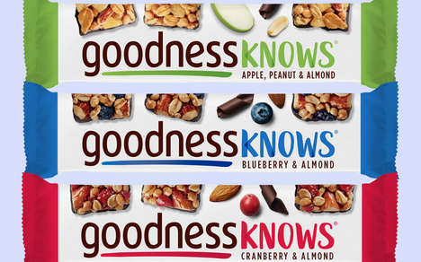 Chocolate Brand Granola Bars - The Goodness Knows Snack Bars are a Candy Bar Alternative