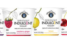 Indulgently Tart Dessert Yogurts - The Greek Gods Seriously Indulgent Yogurts are Premium