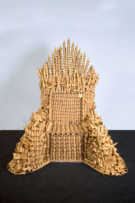 Ice Cream Cone Thrones - Blue Bunny Ice Cream Created an 'Iron Throne' Out of Dessert Cones