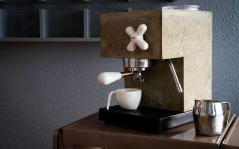 Concrete Espresso Makers - The Anzo Concrete Espresso Maker Features a Modern Industrial Design