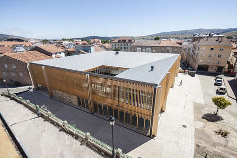 Airy Covered Marketplaces - IMPLUVIUM is an Open-Air Marketplace in Reinosa, Spain
