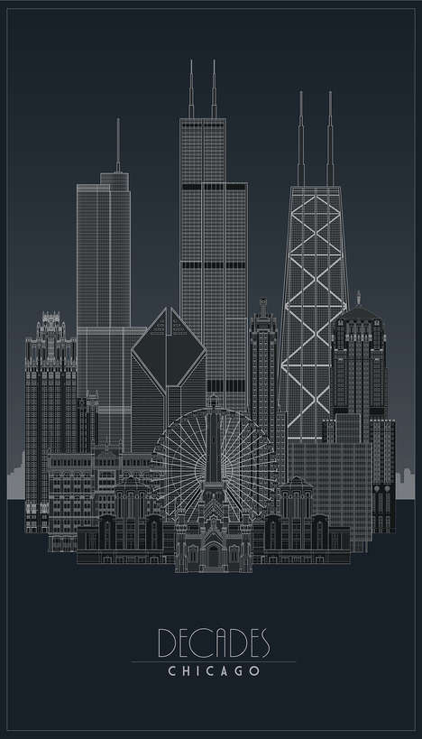 Metallic Architecture Posters - These Detailed Posters Celebrate Chicago's Greatest Buildings