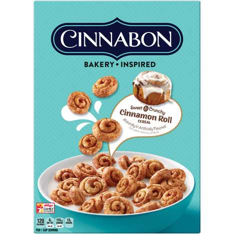 Bakery-Inspired Cereal Flavors - Kellogg's Cinnabon Cereal is Inspired by the Iconic Dessert