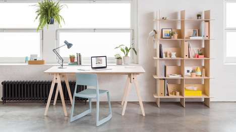 Tool-Free Furniture - Opendesk's New Bundle Desk and Linnea Can Be Assembled Using Joinery