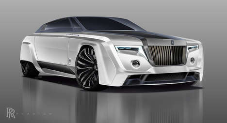 Futuristic Luxury Coupe Concepts - The 2050 Rolls-Royce Phantom Has a Purposefully Old School Design