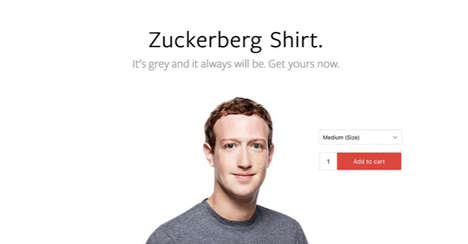 Celebrity Techie T-Shirts - The Zuckerberg Shirt Lets You Dress Just Like Facebook's Founder