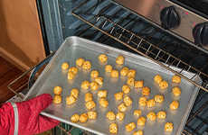 Food-Crisping Baking Sheets - The Perforated Nonstick Crisper Pan Enables Even Cooking