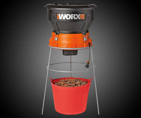 Garden Waste-Grinding Tools - The WORX Electric Leaf Mulcher Makes Quick Work of Yard Waste