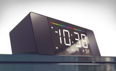 Voice Assistant Alarm Clocks - The 'Sandman Doppler' Alarm Clock Works with Amazon Alexa