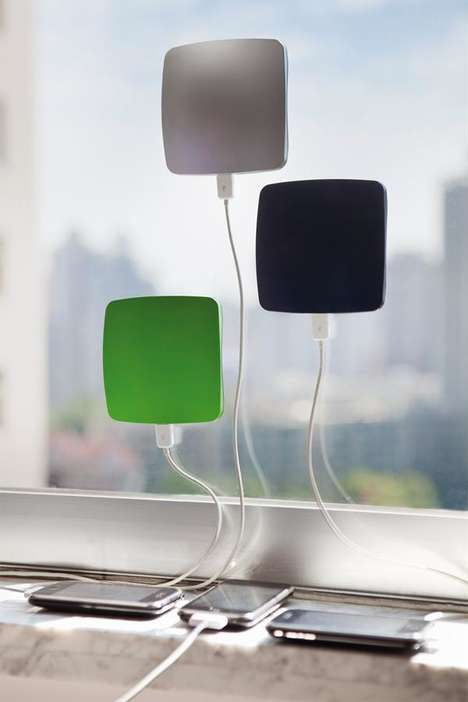 Window-Suctioned Solar Chargers
