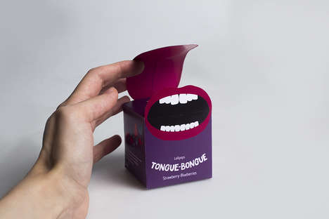 Tongue-Themed Candy Packaging - These Conceptual Candy Packs Feature a Vibrant Oral Design