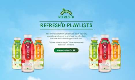 Beverage-Connected Playlists - The 'Robinsons Refresh'd Spotify Hub' Revitalizes Playlists