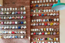 Waste-Reduction Cafes - Handsome Her Features a Wall with Dozens of Mugs to Take To-Go