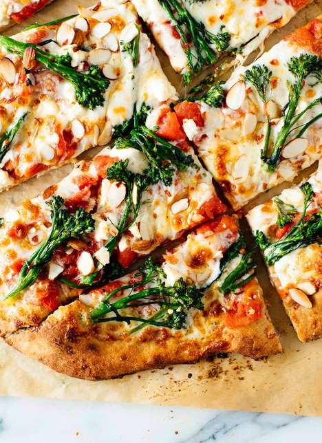 Healthy Almond Pizzas - Cookie and Kate's Almond and Broccolini Pizza Recipe is Nutty and Green