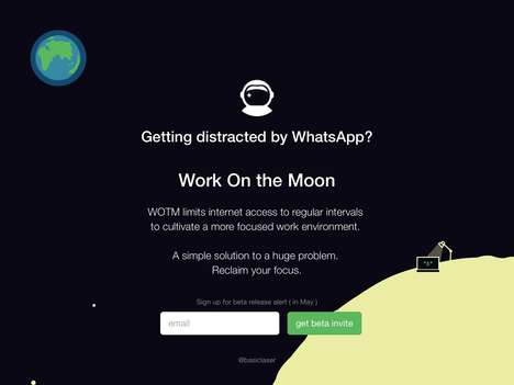 Internet-Disabling Apps - 'Work On The Moon' will Limit Internet Access for Better Productivity