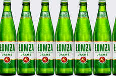 Hybrid Beer Rebranding - The Łomża Jasne Beer is Positioned Between Craft and Mass Market Brews