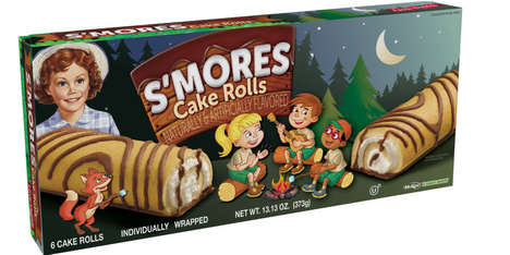 S'mores Cake Snacks - The Little Debbie S'mores Cake Rolls are Campfire-Ready