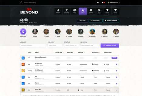 App-Based Fantasy Board Games - Dungeons & Dragons Beyond is a Digital Reworking of the Classic Game