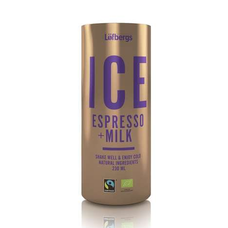 Iced Espresso Milks - Lofberg's ICE Espresso is Made from Natural and Organic Ingredients
