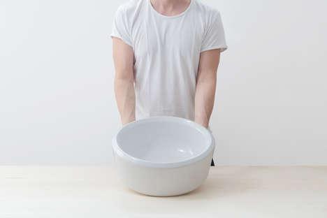 Surface-Mounted Ceramic Washbasins