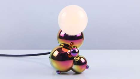 Bubbly Brass Lamps