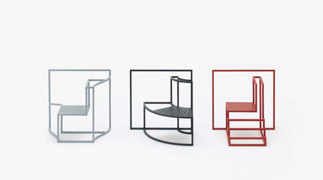 Square-Framed Chair Sculptures - 'Shadows in the Window' Highlights Individualism in Urban Settings