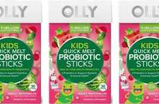 Juvenile-Focused Probiotics - The OLLY Kids Quick Melt Probiotic Sticks Boost Gut Health
