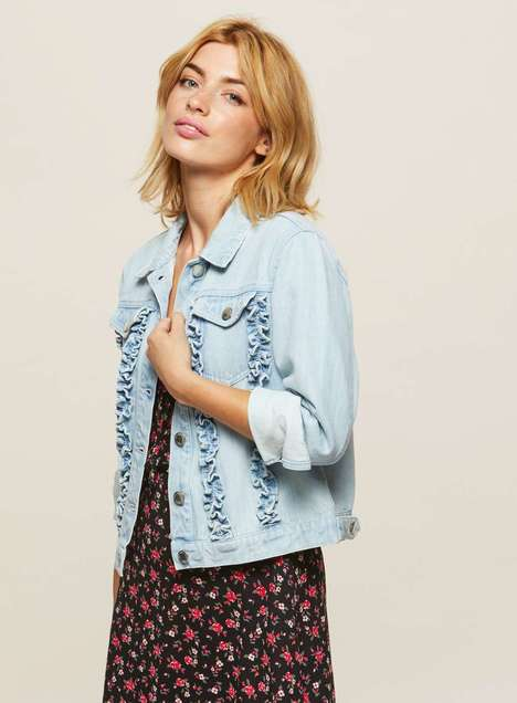 Ruffled Denim Jackets - Miss Selfridge is Remixing the Classic Denim Jacket with Embellishments
