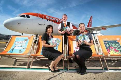 In-Flight Library Campaigns - easyJet is Introducing 'Flybraries' to Encourage Reading on Airplanes