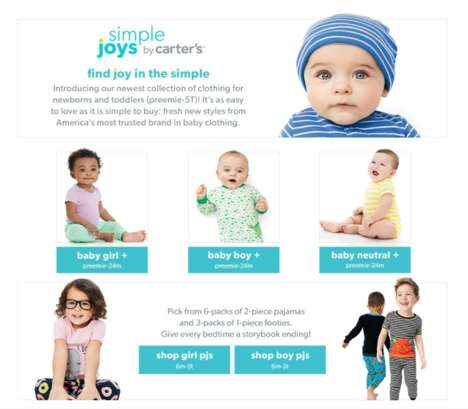 Exclusive eCommerce Kidswear - 'Simple Joys by Carter's' Was Created Just for Amazon Prime