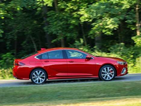 Buffed-Up American Luxury Sedans - The New 2018 Buick Regal GS Shares Its Engine with the Camaro