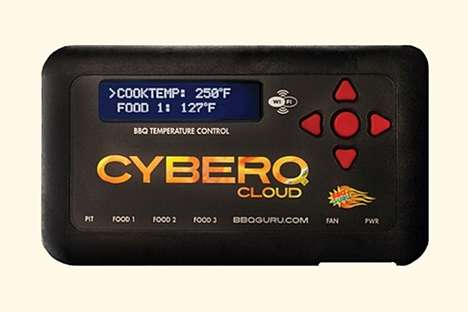 Smart Charcoal Grill Devices - The BBQ Guru CyberQ Cloud Temperature Controller Automates Grilling