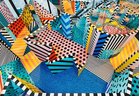 Vibrant Labyrinth Installations - The 'Temple of Wonder' is Featured at London's Now Gallery