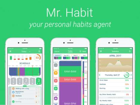 Healthy Habit-Forming Apps - 'Mr. Habit' Helps You Control Your Habits with Your Schedule in Mind