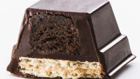 Cake-Filled Chocolate Bars - Nestlé Japan Released a Chocolate Cake Kit Kat Bar