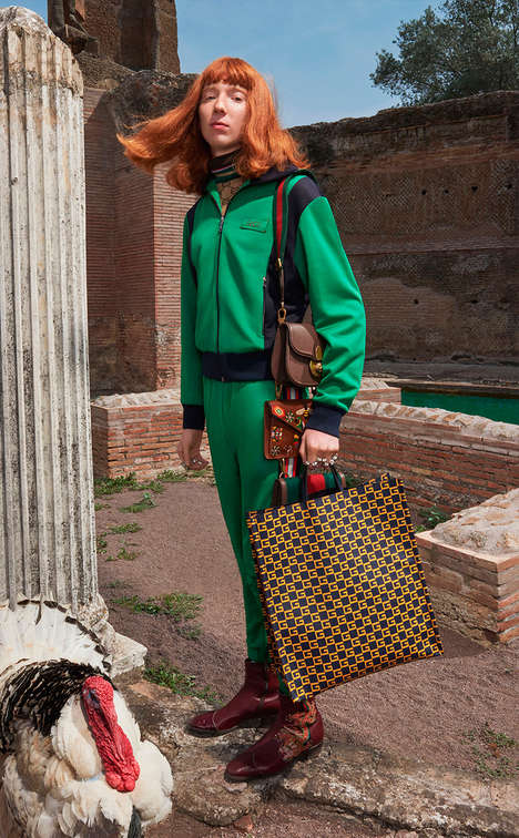 Androgynous Couture Lookbooks - The New Gucci Resort Collection Features Obscure Cuts and Colorways