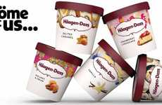 Product-Inspired Ice Cream Branding - These Häagen-Dazs Ice Creams are Covered in Flavorful Artwork