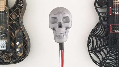 Skeletal Microphone Designs - The Skeletor Microphone's Exterior Appearance Will Make You Shudder