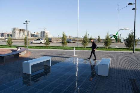 Solar-Powered Street Furniture - The Platio Panels Let Public Walkways and Benches Harvest Energy