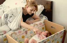 Cardboard Baby Cribs - This Flatpack Baby Crib Saves Space and Could Help Save the Environment