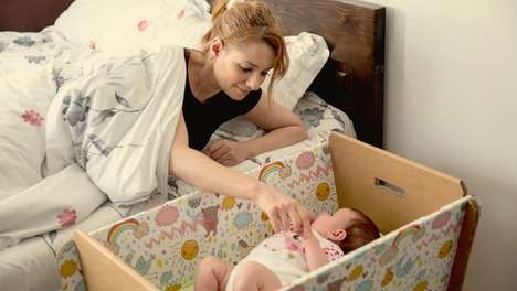 This Flatpack Baby Crib Saves Space and Could Help Save the Environment