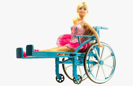 Inclusive Doll Wheelchairs - The Lammily Wheelchair Sets a New Standard for Inclusivity in Toys