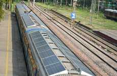 Solar Panel-Sheathed Trains