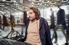 Noise-Banishing Travel Headphones