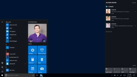 Tailored Networking Apps - The New LinkedIn App is Specifically Customized For Windows 10 Users