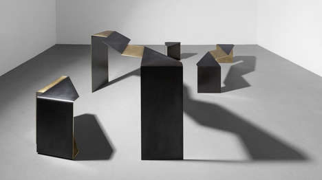 Flattened Steel Furniture - Uhuru's 'Fold Collection' is Inspired by Local Industry