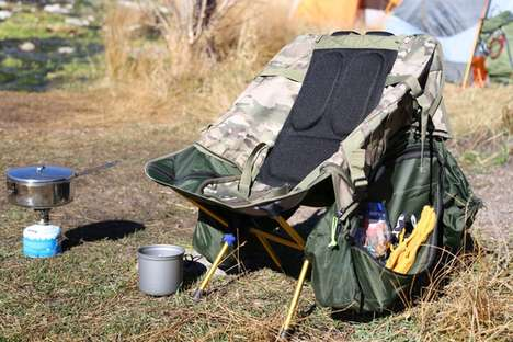 Hybridized Camping Chairs - The Chameleon Pack Transforms into a Camp Chair