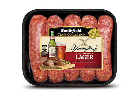 Lager-Infused Sausages - Smithfield Foods and Yuengling & Son Inc. Launched a Specialty Bratwurst